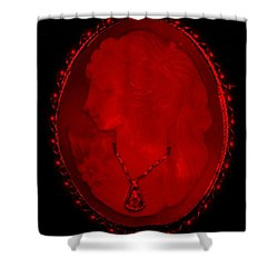Cameo In Red Shower Curtain by Rob Hans