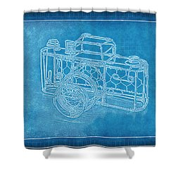 Camera 1b Shower Curtain by Mauro Celotti