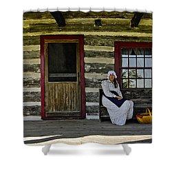 Canadian Gothic Shower Curtain by Steve Harrington