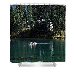 Canadian Rockies Shower Curtain by John Doornkamp