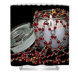 Candle And Beads Shower Curtain by Carolyn Marshall