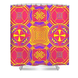 Candy Wrapper Shower Curtain by Sumit Mehndiratta