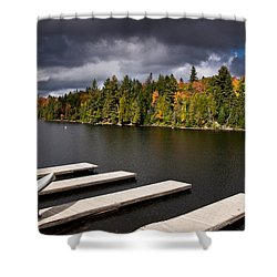 Canoe Lake Shower Curtain by Cale Best