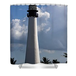 Cape Florida Lighthouse Shower Curtain by Ed Gleichman