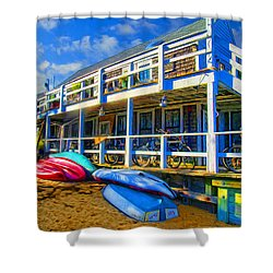 Captain Jack's At Sunrise Shower Curtain by Tammy Wetzel