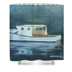 Captain Tom Shower Curtain by Claire Gagnon