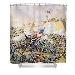 Capture Of Fort Fisher 15th January 1865 Shower Curtain by American School