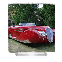 Car At Meadowbrook Shower Curtain by Grace Grogan