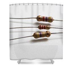 Carbon Film Resistors Shower Curtain by Photo Researchers, Inc.