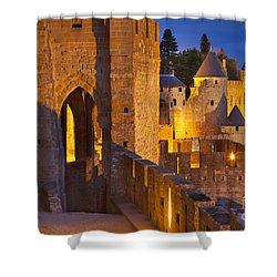 Carcassonne Ramparts Shower Curtain by Brian Jannsen