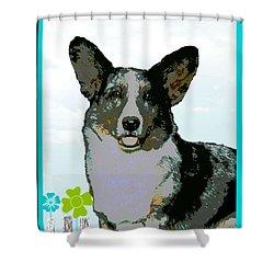 Cardigan Welsh Corgi Shower Curtain by One Rude Dawg Orcutt