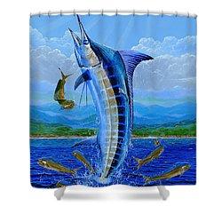 Caribbean Blue Shower Curtain by Carey Chen