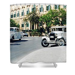 Castille Square Shower Curtain by John Chatterley