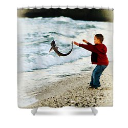 Catch And Release Shower Curtain by Bill Cannon