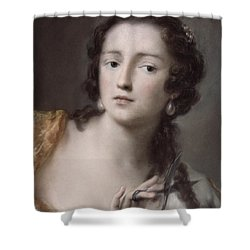 Caterina Sagredo Barbarigo As 'bernice' Shower Curtain by Rosalba Giovanna Carriera