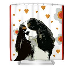 Cavalier King Charles Spaniel Shower Curtain by One Rude Dawg Orcutt