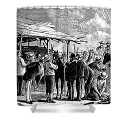 Cavalry Horses, 1876 Shower Curtain by Granger