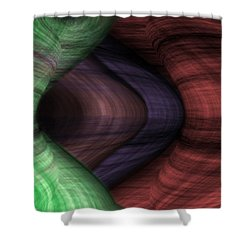 Caverns Of Wonder Shower Curtain by Christopher Gaston