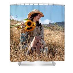 Celeste 1 Shower Curtain by Dawn Eshelman
