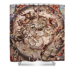 Cellariuss Constellations, 1660 Shower Curtain by Science Source