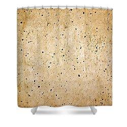 Cement Wall Shower Curtain by Carlos Caetano