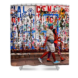 Cenal Truckin' Shower Curtain by Skip Hunt