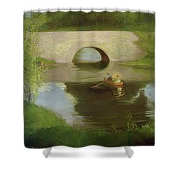 Central Park Shower Curtain by George Luks