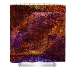 Centrifuge Shower Curtain by Christopher Gaston
