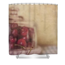 Cerise Shower Curtain by Priska Wettstein