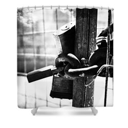 Chained Gate Shower Curtain by Phill Petrovic