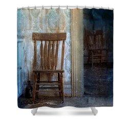 Chairs In Rundown House Shower Curtain by Jill Battaglia