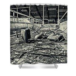 Chairs Undone Shower Curtain by CJ Schmit