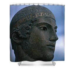 Charioteer Of Delphi Shower Curtain by Photo Researchers