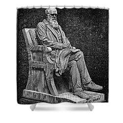 Charles Darwin (1809-1882) Shower Curtain by Granger