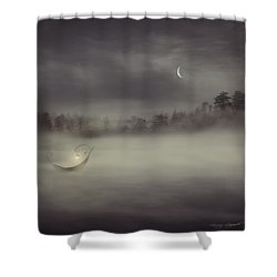 Charon's Boat Shower Curtain by Lourry Legarde