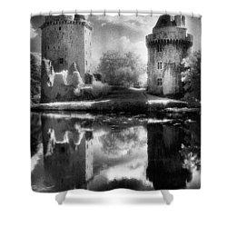 Chateau De Largoet Shower Curtain by Simon Marsden