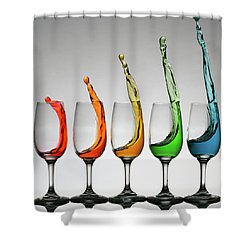 Cheers Higher Shower Curtain by William Lee