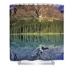 Chephren Lake And Mt. Chephren, Banff Shower Curtain by Darwin Wiggett
