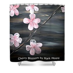 Cherry Blossom By Mark Moore Shower Curtain by Mark Moore