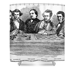 Chess Players, 1855 Shower Curtain by Granger