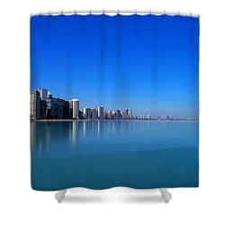 Chicago Skyline Shower Curtain by Paul Ge