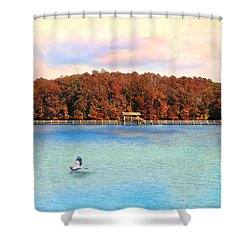 Chickasaw Bridge Shower Curtain by Jai Johnson
