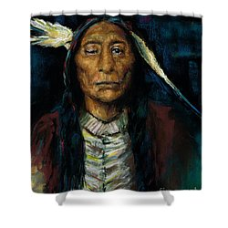 Chief Niwot Shower Curtain by Frances Marino