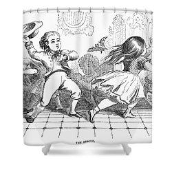 Children And Bat Shower Curtain by Granger