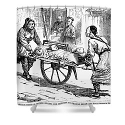 China: Famine, 1877 Shower Curtain by Granger