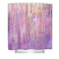 Chitchat Shower Curtain by Rachel Christine Nowicki