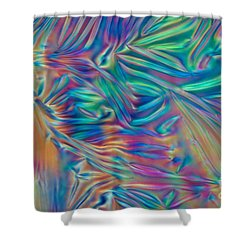 Cholesteric Liquid Crystals Shower Curtain by Michael Abbey and Photo Researchers