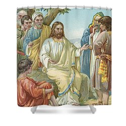 Christ And His Disciples Shower Curtain by Ambrose Dudley