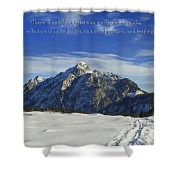 Christmas In Austria Europe Shower Curtain by Sabine Jacobs