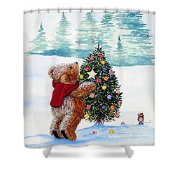 Christmas Star Shower Curtain by Gordon Lavender